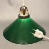 15, 20 och 25 cm - Gröna skomakarlampor - Grön skomakarskärm 25 cm + 390 cm sladdupphäng med väggkontakt