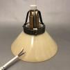 15, 20 och 25 cm - Gula skomakarlampor - Ljusgul skomakarskärm 15 cm + 130 cm sladdupphäng med klippt sladd (för tak)