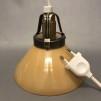 15, 20 och 25 cm - Gula skomakarlampor - Mörkgul skomakarskärm 15 cm + 390 cm sladdupphäng med väggkontakt