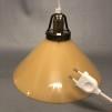 15, 20 och 25 cm - Gula skomakarlampor - Mörkgul skomakarskärm 25 cm + 390 cm sladdupphäng med väggkontakt