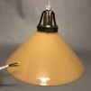 15, 20 och 25 cm - Gula skomakarlampor - Mörkgul skomakarskärm 25 cm + 130 cm sladdupphäng med klippt sladd (för tak)