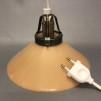 15, 20 och 25 cm - Gula skomakarlampor - Mörkgul skomakarskärm 20 cm + 390 cm sladdupphäng med väggkontakt