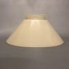 Skomakarskärmar gula - 60 mm krage - Vaniljgul skärm 15 cm skomakaremodell (ENDAST SKÄRM)