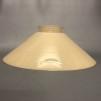 Skomakarskärmar gula - 60 mm krage - Vaniljgul skärm 20 cm skomakaremodell (ENDAST SKÄRM)