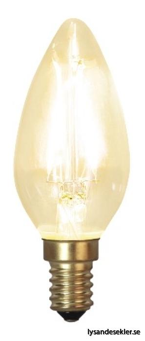 E003 kron glödlampa LED