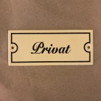 Emaljskylt: Privat