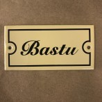 Emaljskylt: Bastu