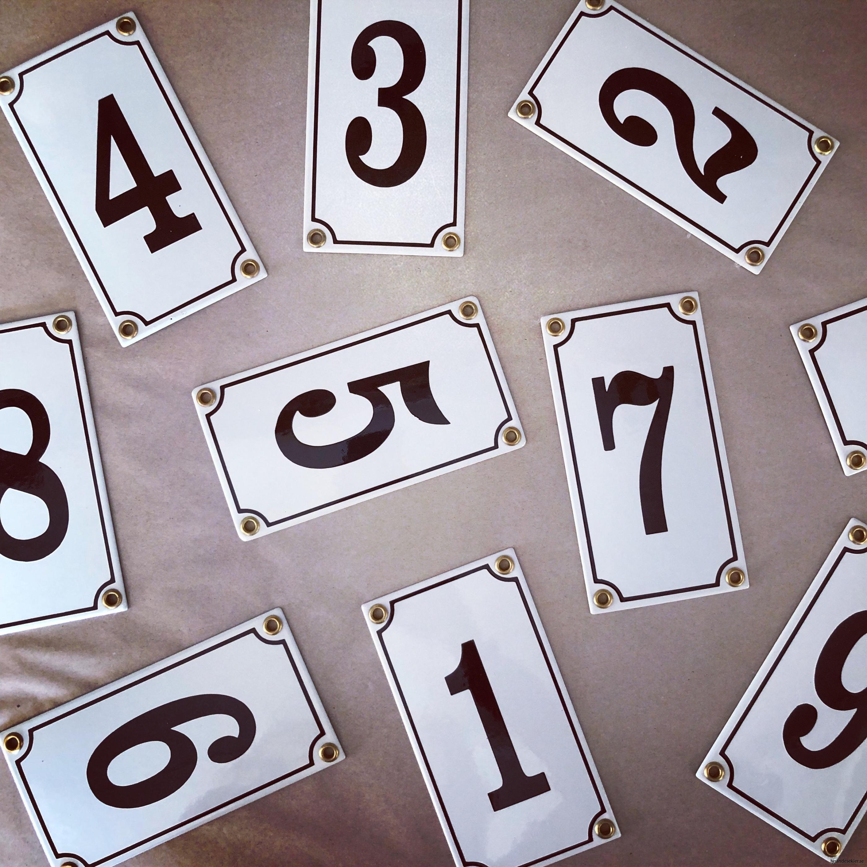 emaljsiffra siffra i emalj fasadsiffra nummer1