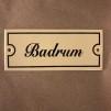 Emaljskylt: Badrum - Skylt i antikvitt: Badrum