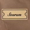 Emaljskylt: Sovrum - Skylt i antikvitt: Sovrum
