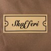 Emaljskylt: Skafferi - Skylt i antikvitt: Skafferi