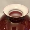 Vestaskärm vinröd - 235 mm (Skärm till fotogenlampa)