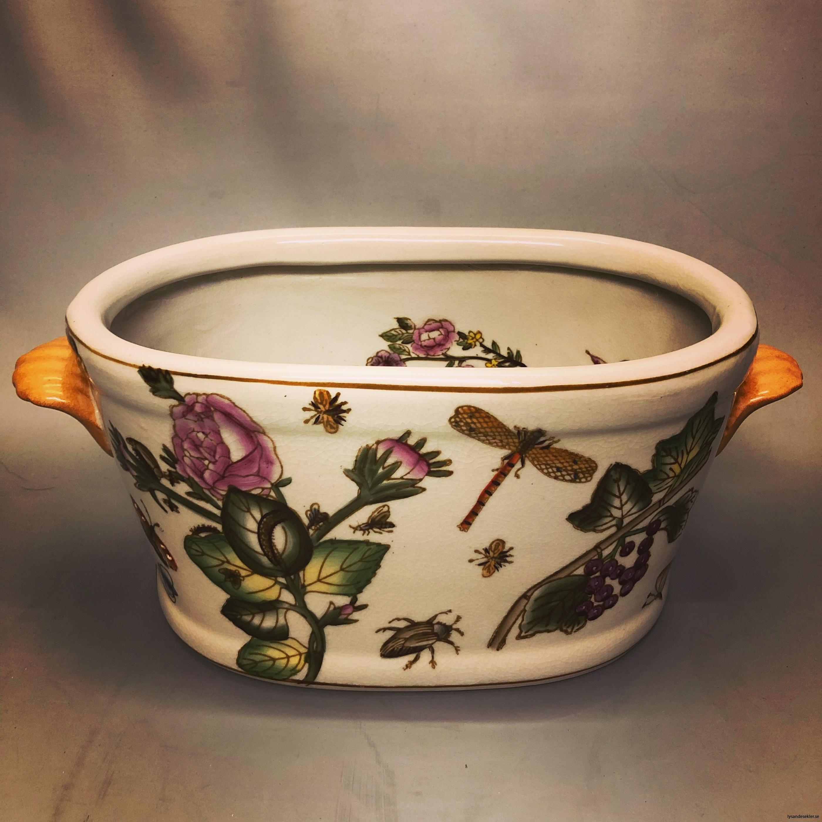 oval kruka målad keramik11