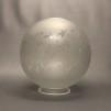Ljusstake med klotkupa i mässing - Tillval: Extra glaskupa(annat mönster) till denna lykta