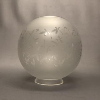 70 mm - Kupa 10''' klotformad ornamenterad (Kupa till fotogenlampa) - Kupa 10''' klotformad ornamenterad