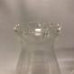 63-65 mm - Lotus (krusig kant) (Glas till fotogenlampa) - Linjeglas Lotus mellan med volangkant  (65 mm )