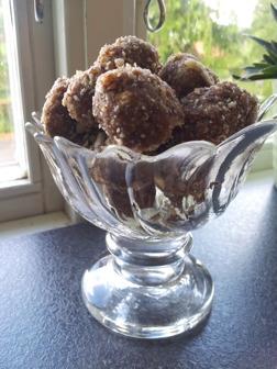 Fikonbollar utan vitt socker, glutenfri, mjölkfri