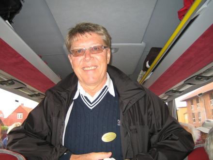 Ingvar Nilsson är alltid med som reseledare/guide för att se så att allt fungerar så som det är tänkt.