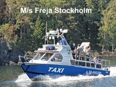Taxibåt-Båttaxi-sjötaxi  M/s Freja Stockholm