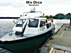 Taxibåt-Båttaxi-sjötaxi  M/s Orca Stockholm