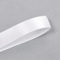 Vitt satinband 70mm, pris per meter