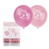 Rosa ballonger baby shower 8-pack