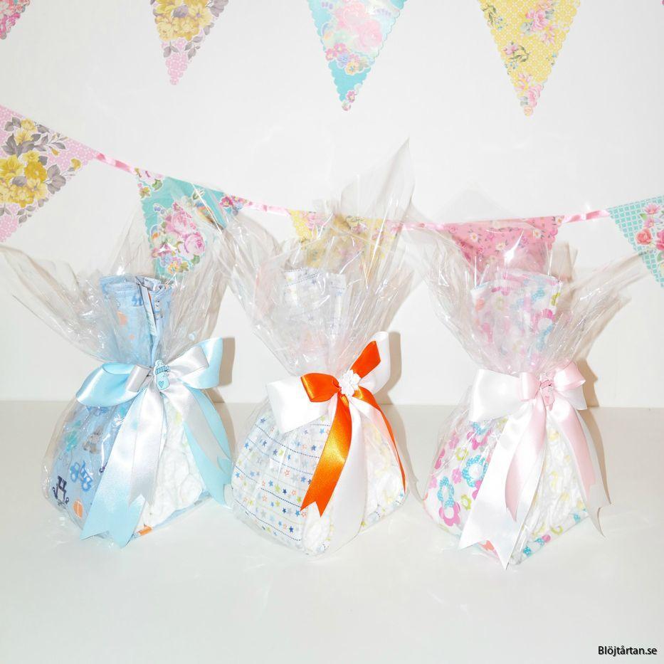 Storksäck storkbundle blöjtårta diapercake