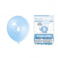 Blå ballonger med elefant