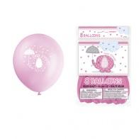 Rosa ballonger med elefant