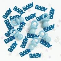 Konfetti + smånappar, blått