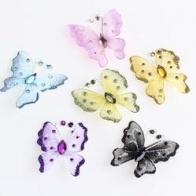 Fjäril nylon med glitter