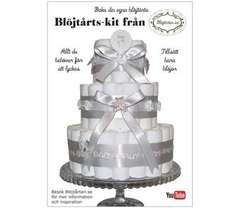 Blöjtårtan.se's tårtmix- tillsätt bara blöjor! Neutrala kit: Vit/ silver, Djungel och Lila - Vit/silver, gör din egen blöjtårta, blöjtårts-kit