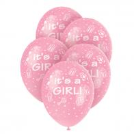 It's a girl, ballonger till baby shower