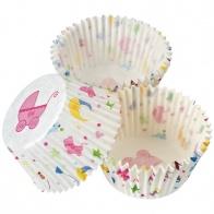 Cupcake muffinsformar Baby 100-pack