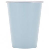 Blå pappersmuggar 8-pack