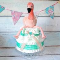 Blöjtårta lalala Flamingo, grön