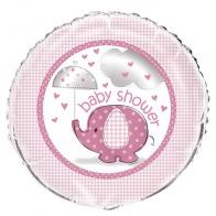 Heliumballong / Folieballong Rosa babyshower
