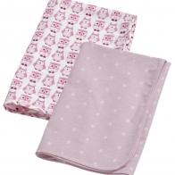 2-pack flanellfiltar/skötfiltar rosa, Kids concept
