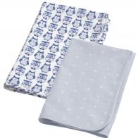 2-pack flanellfiltar/skötfiltar blå, Kids concept