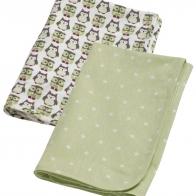 2-pack flanellfiltar/skötfiltar grön, Kids concept