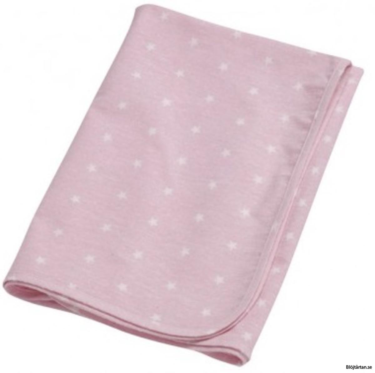 flanellfilt rosa stjärnor