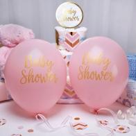 Rosa ballonger Baby Shower (guld)