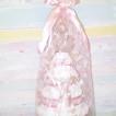 Blöjtårta rosa/beige XL (4 våningar)