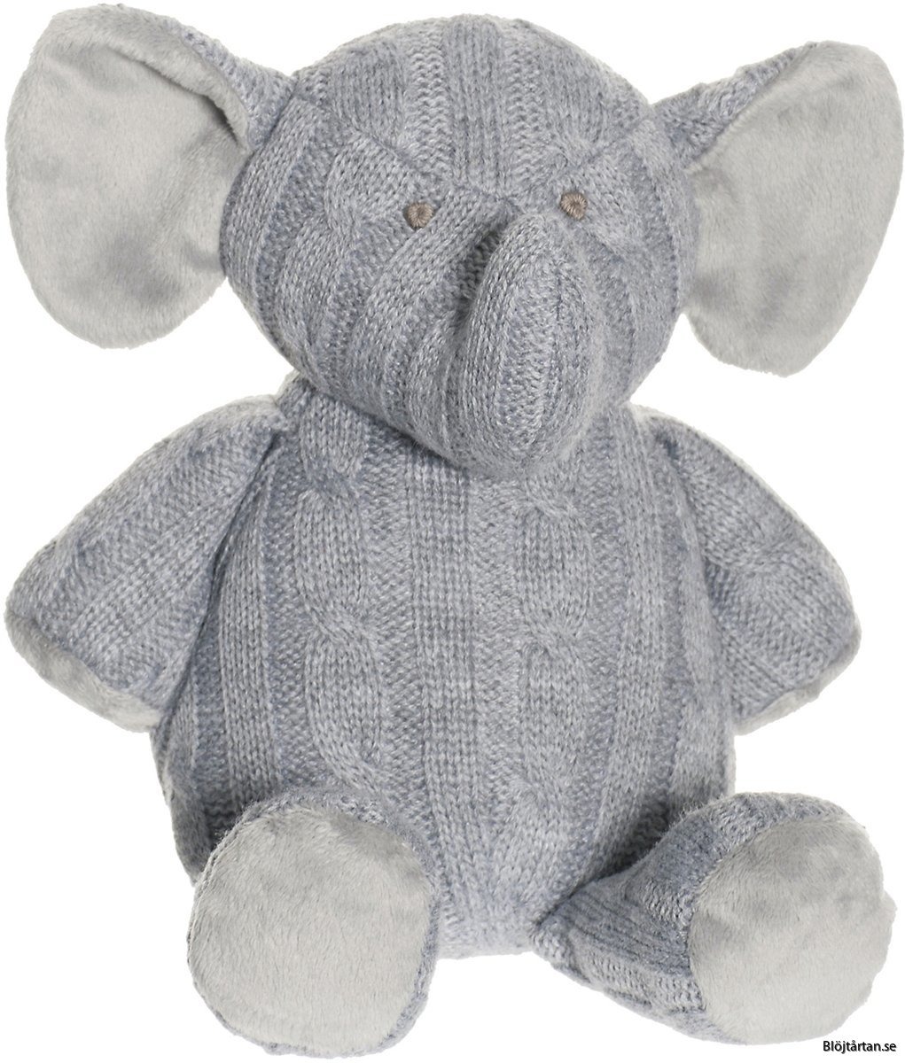 Teddykompaniet Gosedjur Stickad Elefant