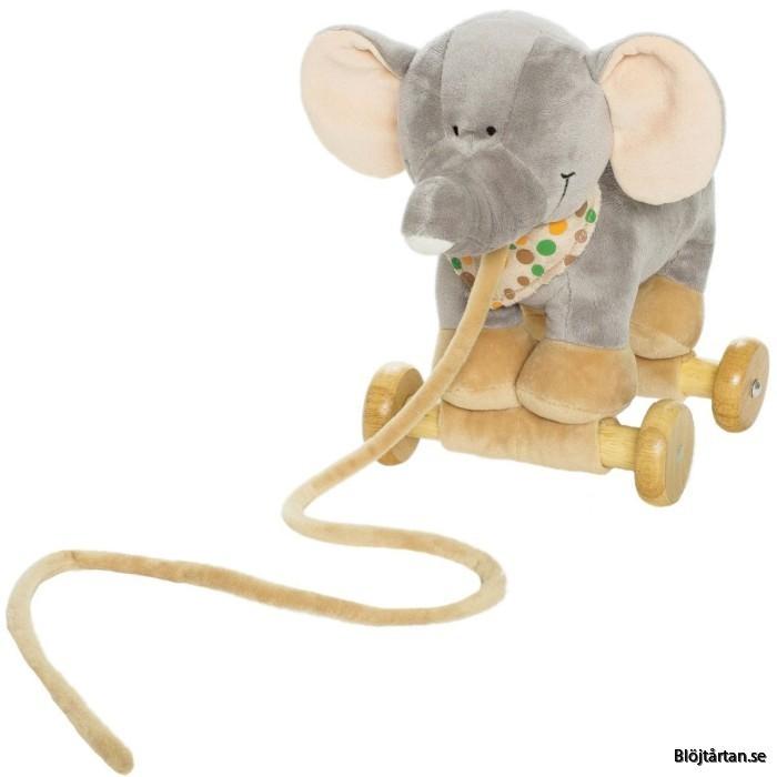 Blöjtårta med dragelefant, beige/grå