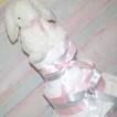ROSA BLÖJTÅRTOR - Rosa silver blöjtårta med gosig kanin