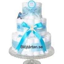 Blöjtårtan.se's tårtmix- tillsätt bara blöjor! BLÅ