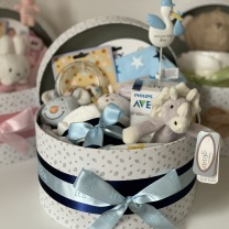 NYHET: BABYBOX, en presentbox till babyn, blå