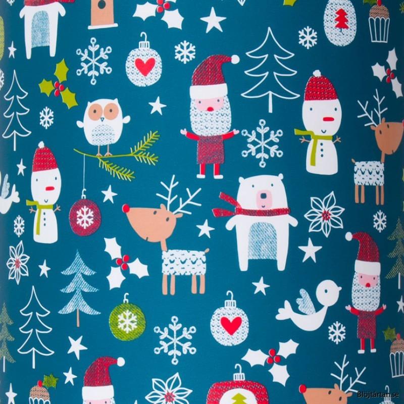 Presentpapper jul, gåva inslagen som julklapp +20kr