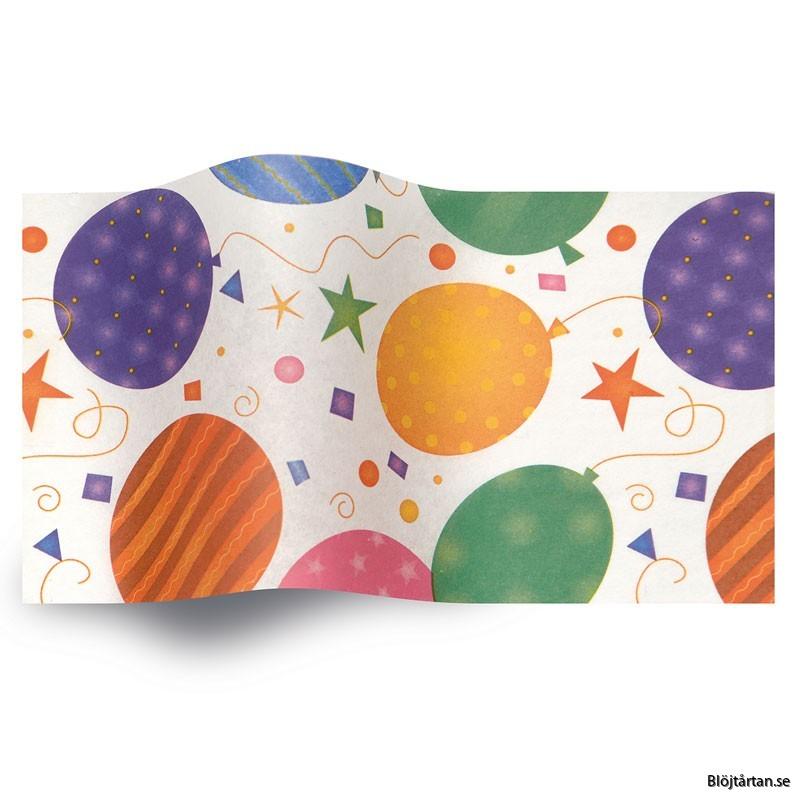 silkespapper ballonger